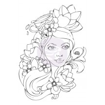 Prima Marketing Bloom Girl Paige Rubber Cling Stamp 980054