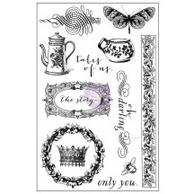 Prima Marketing Tales of You & Me Cling Rubber Stamp Set 990930