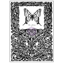 "Prima Marketing Tales of You & Me Butterfly 3""x4"" Clear Stamp 990961"