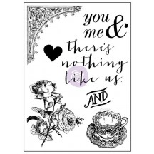 "Prima Marketing Tales of You & Me There's Nothing Like Us 3""x4"" Clear Stamp 990978"