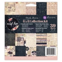 """Prima Marketing Wild & Free 6""""x6"""" Double-Sided Collection Kit 39 sheets 992293"""
