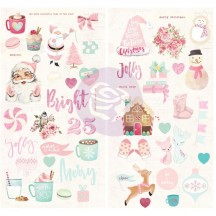 Prima Frank Garcia Santa Baby Self Adhesive Chipboard Accent Shape Stickers 993580