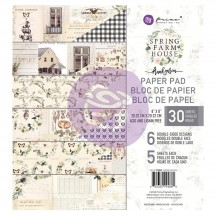 "Prima Frank Garcia Spring Farmhouse 8""x8"" Double-Sided Paper Pad 30 sheets 994860"