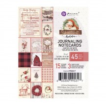 """Prima Frank Garcia Christmas in the Country 3""""x4"""" Journaling Note Card Pad 995317"""