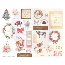 Prima Frank Garcia Christmas in the Country Self Adhesive Chipboard Accent Shape Stickers 995331
