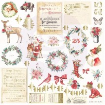 Prima Frank Garcia Christmas in the Country Die-Cut Cardstock Ephemera I 995348