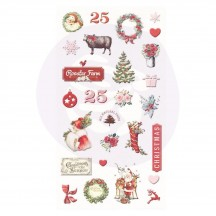 Prima Marketing Frank Garcia Christmas in the Country Puffy Stickers 995362