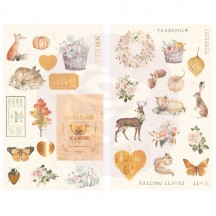 Prima Frank Garcia Autumn Sunset Self Adhesive Chipboard Accent Shape Stickers 995539