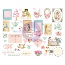 Prima Frank Garcia With Love Self Adhesive Chipboard Accent Shape Stickers 996260