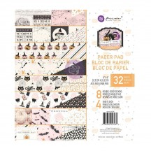 """Prima Frank Garcia Thirty One Halloween 8""""x8"""" Double-Sided Paper Pad 997236"""