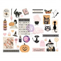Prima Frank Garcia Thirty-One Halloween Self Adhesive Chipboard Accent Shape Stickers 997274