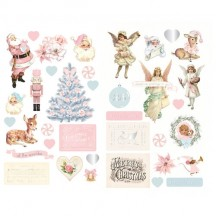 Prima Frank Garcia Christmas Sparkle Self Adhesive Chipboard Accent Shape Stickers 997755
