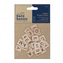 doCrafts Papermania Bare Basics Caption Wooden Letters 174601