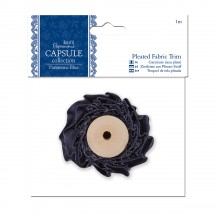doCrafts 1m Pleated Fabric Trim - Capsule Collection - Parisienne Blue 358381