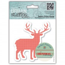 "doCrafts Papermania Christmas in the Country Stag 4"" x 4"" Urban Cling Stamp 907179"
