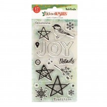 American Crafts Vicki Boutin Warm Wishes Christmas Clear Stamp Set 34010780