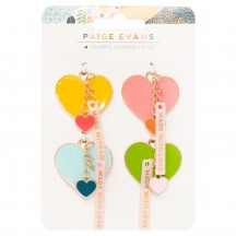 American Crafts Paige Evans Bungalow Lane Heart Charms 34003654