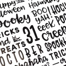 Pebbles Spoooky Mwahahaha Halloween Black Puffy Phrase Thickers 736993