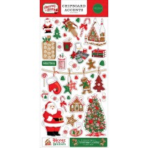 Carta Bella Christmas Cheer Self Adhesive Chipboard Accents Stickers CHR141021
