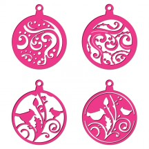 Craft Concepts Swirls & Birds Bauble Tags Universal Cutting Die  - CR371239
