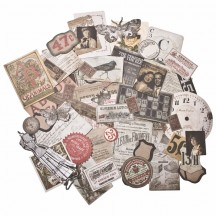 Tim Holtz Idea-ology Thrift Shop Die Cut Ephemera Pack TH93114