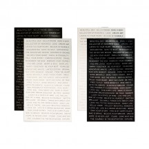 Tim Holtz Idea-ology Metallic Stickers - Quotations TH93559