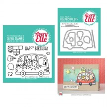 Avery Elle Birthday Bus Clear Stamps & Cutting Die Set