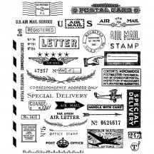 Stampers Anonymous Tim Holtz Correspondence Cling Mount Stamp Set CMS225