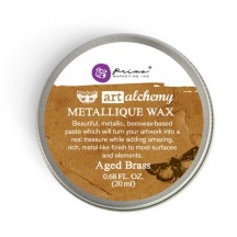 Prima Finnabair Art Alchemy Aged Brass Metallique Wax 963965