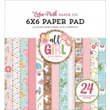 "Echo Park All Girl 6""x6"" Double-Sided Paper Pad ALG206023"