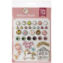 Echo Park All Girl Decorative Brads & Chipboard Pieces ALG206020