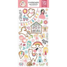 Echo Park All Girl Self Adhesive Chipboard Accents Stickers ALG206021