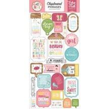 Echo Park All Girl Self Adhesive Chipboard Phrases Stickers ALG206022