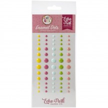 Echo Park All Girl Enamel Dots yellow pink blue green ALG206028