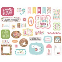 Echo Park All Girl Ephemera Die Cut Cardstock Pieces ALG206024