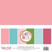 "Echo Park All Girl 12""x12"" Solids Paper Kit ALG206015"