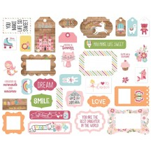 Echo Park All Girl Frames & Tags Ephemera Die Cut Cardstock Pieces ALG206025