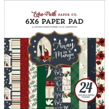 "Echo Park Away in a Manger Christmas 6""x6"" Double-Sided Paper Pad AIM191023"