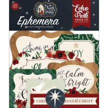 Echo Park Away in a Manger Christmas Ephemera Die Cut Cardstock Pieces AIM191024