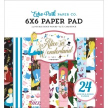 "Echo Park Alice In Wonderland No 2 6""x6"" Double-Sided Paper Pad WO214023"