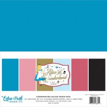 "Echo Park Alice in Wonderland No 2 12""x12"" Solids Paper Kit WO214015"