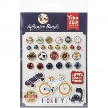 Echo Park All Boy Decorative Brads & Chipboard Pieces ALB207020
