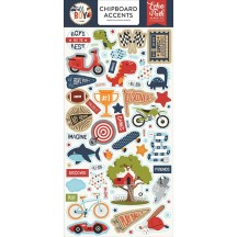 Echo Park All Boy Self Adhesive Chipboard Accents Stickers ALB207021