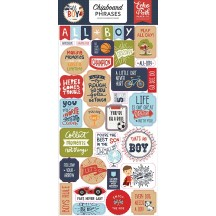 Echo Park All Boy Self Adhesive Chipboard Phrases Stickers ALB207022