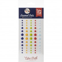 Echo Park All Boy Enamel Dots blue yellow green red ALB207028