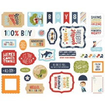 Echo Park All Boy Ephemera Die Cut Cardstock Pieces ALB207024