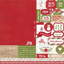 "Echo Park I Love Christmas 12""x12"" Alpha Letter Stickers LC114015"