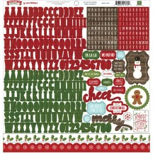 "Echo Park The Story of Christmas 12""x12"" Alpha Letter Stickers TSC94015"
