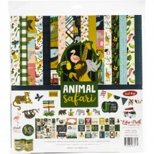 "Echo Park Animal Safari 12""x12"" Collection Kit OO167016"