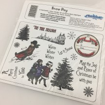 Creative Expressions Snow Day Christmas U-Mount Rubber Stamps